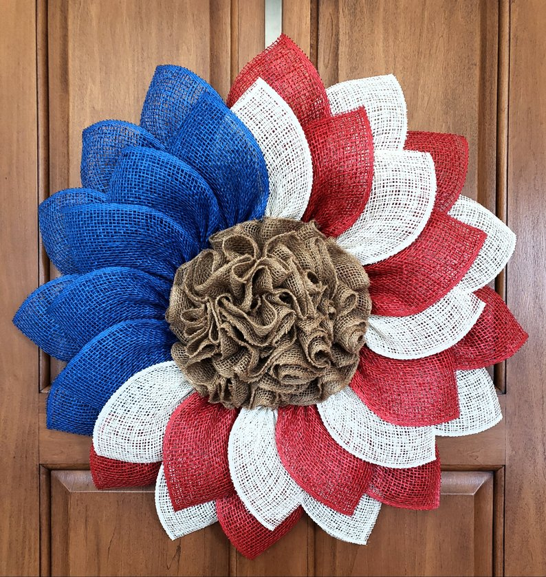 15 Patriotic Handmade 4th of July Wreath Designs To Celebrate Independence Day