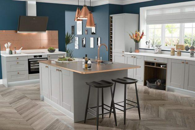 excellent large kitchen design | 10 Excellent Ideas To Enter Copper Elements In The Kitchen