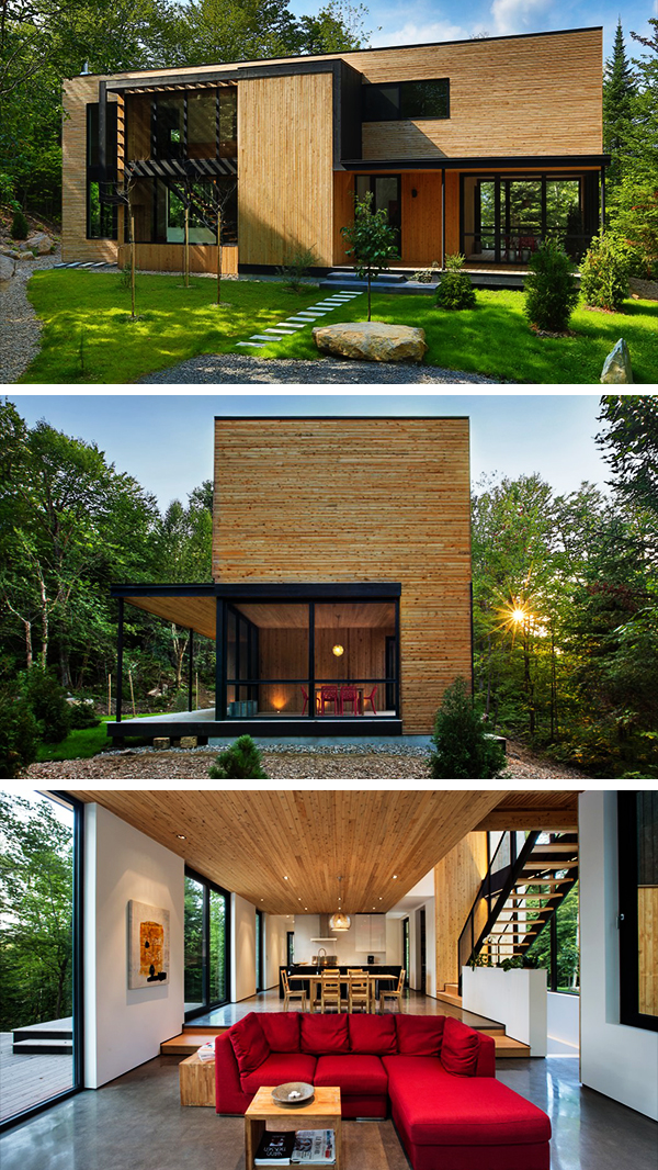 La Chasse-Galerie Home by Thellend Fortin Architectes in Montreal, Canada