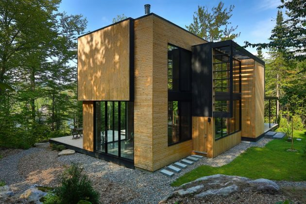 La Chasse Galerie Home by Thellend Fortin Architectes in Montreal, Canada