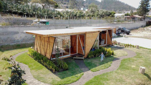 Orange Lemon House by Daniel Moreno Flores in Quito, Ecuador
