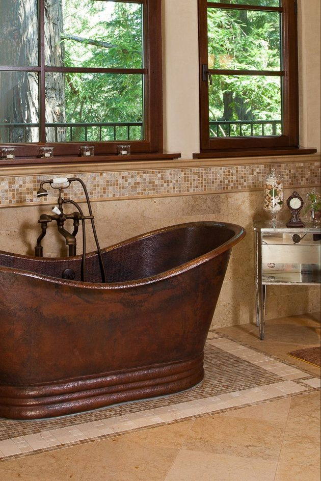 Luxurious Bathrooms with Curved Tubs