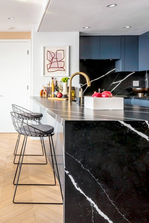 Dramatic Waterfall Countertops You Will Want to Have in Your Kitchen Right Now