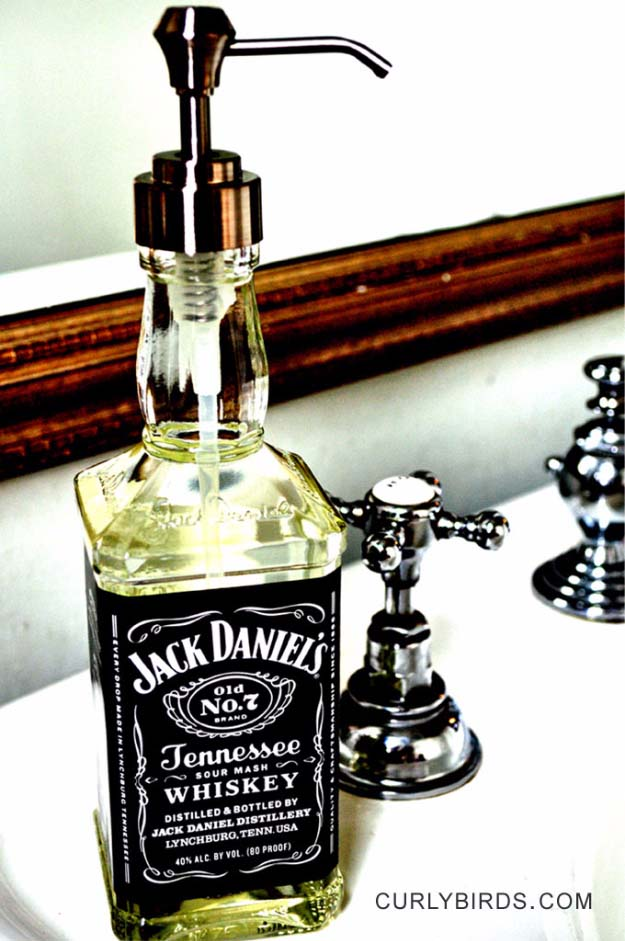 14 Creatively Fun DIY Ideas You Can Make With Whiskey Bottles