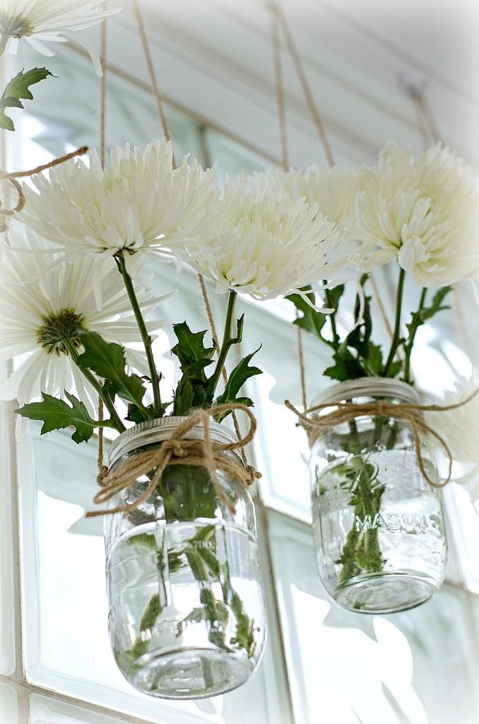 Mason Jar Vases Flowers