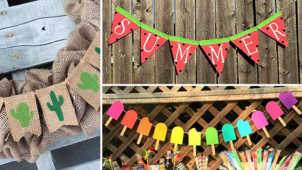 15 Incredibly Cute Handmade Summer Banner Designs For The Garden