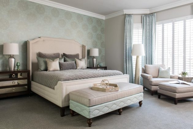 16 Attractive Bedrooms With Accent Wall To Break The Monotony