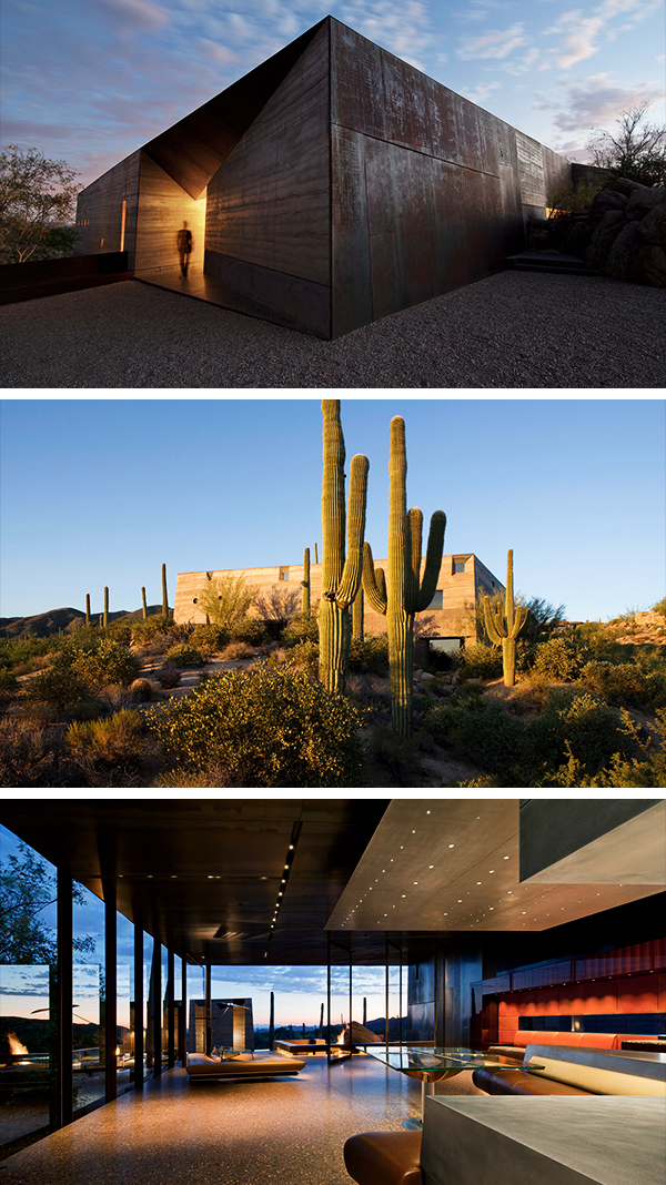 Desert Courtyard House by Wendell Burnette Architects in Scottsdale, Arizona