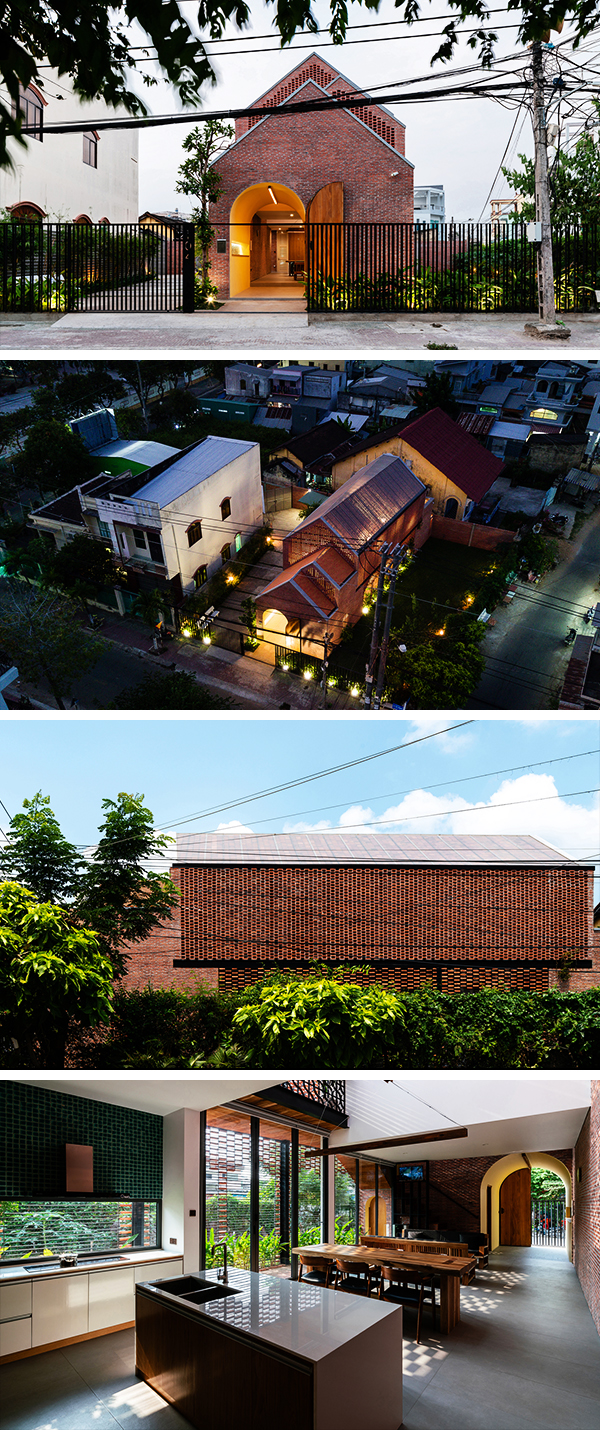 Oldmeetsnew House by Block Architects in Tar Vinh, Vietnam