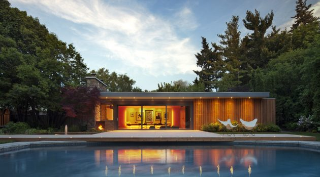 Pool House by +tongtong in Toronto, Canada