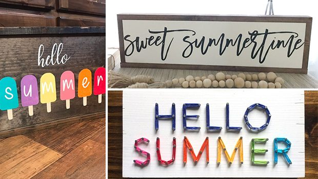 15 Cool Handmade Summer Wood Sign Designs For Your Porch