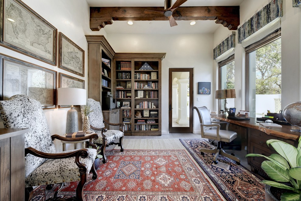 15 Dazzling Mediterranean Home Office Designs You'll Work Overtime In