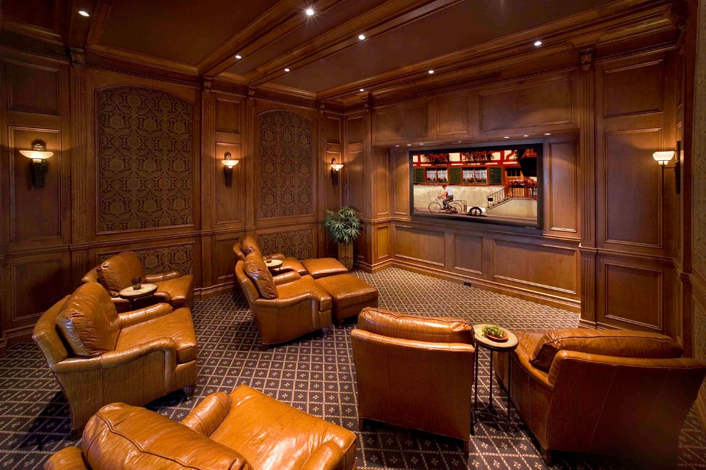 15 Exquisite Mediterranean Home Theater Designs For The Ultimate Lounging