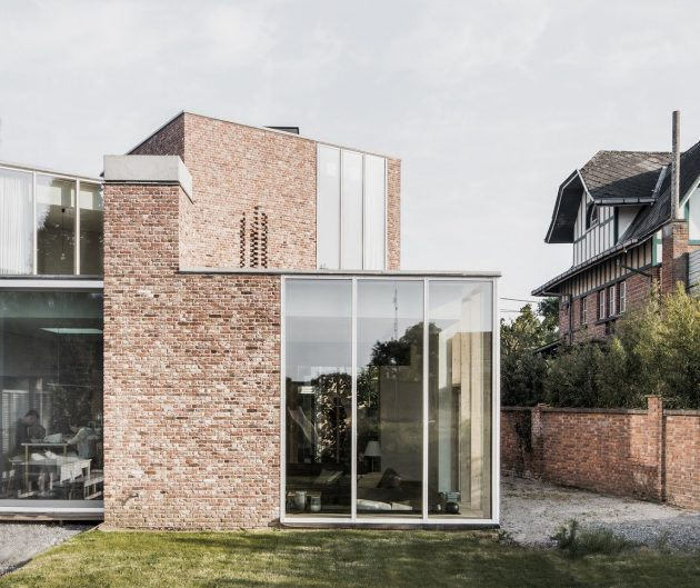 House L C by Graux & Baeyens Architects in Anzegem, Belgium