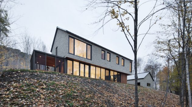 KL House by Bourgeois / Lechasseur Architectes in North Hatley, Canada