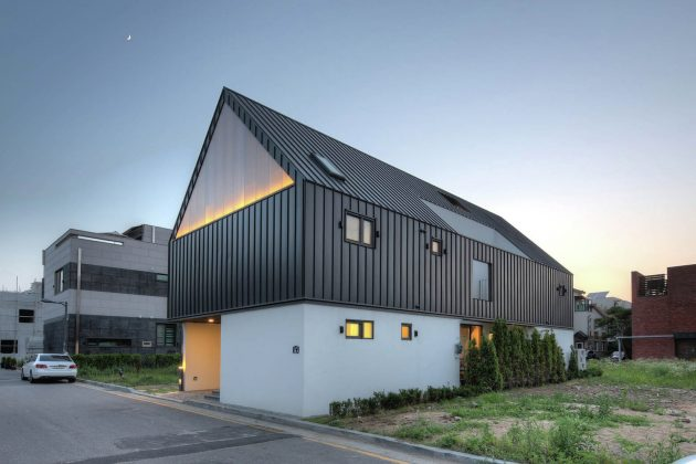 One Roof House by mlnp Architects in Seongnam, South Korea