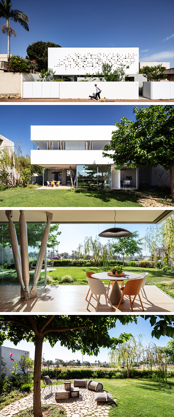 Round Edge House by Anderman Architects in Ramat Hasharon, Israel