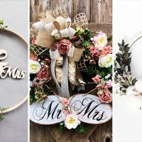 15 Cute Wedding Wreath Designs Every Summer Wedding Needs