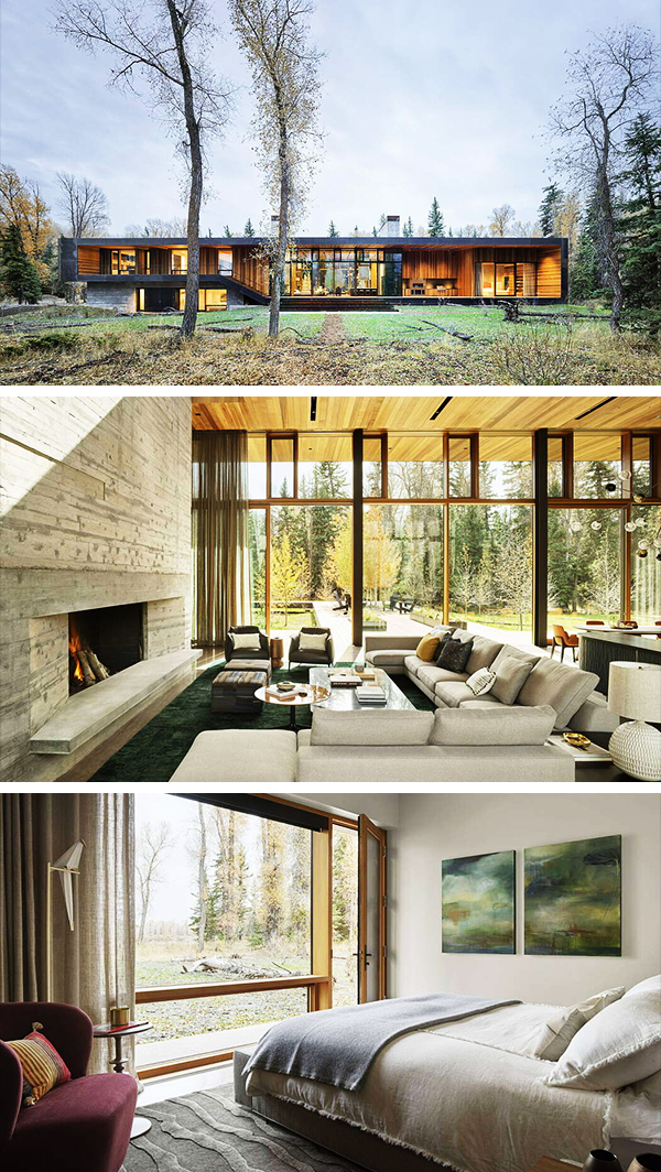 Riverbend Residence by Carney Logan Burke Architects in Jackson, Wyoming