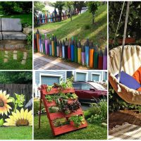 16 Tremendous DIY Garden Decorations That You Haven't Seen Before