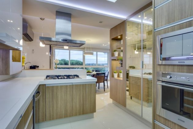 9 Kitchen Designs with Decorated Mirrors Youll Fall in Love With