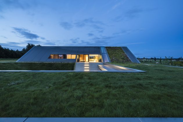 Green Line House by Mobius Architects in Warmla, Poland