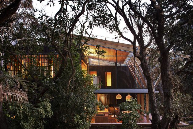 Under Pohutukawa by Herbst Architects in Auckland, New Zealand