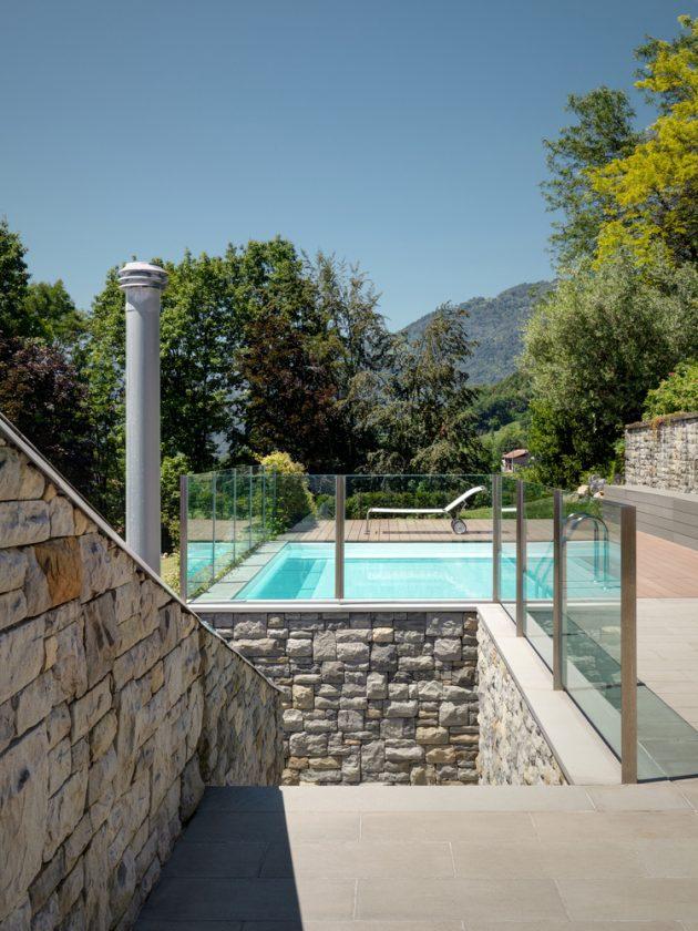 Villa Carber by Buratti Architetti in Cazzano Sant'Andrea, Italy