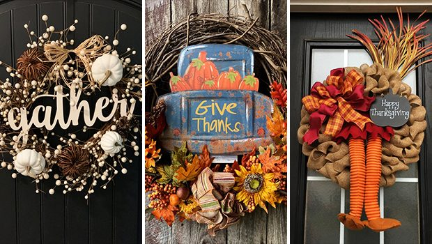 15 Fabulous Handmade Thanksgiving Wreath Design You'll Adore