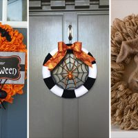 18 Crazy Cool Handmade Halloween Wreath Ideas You'll Love
