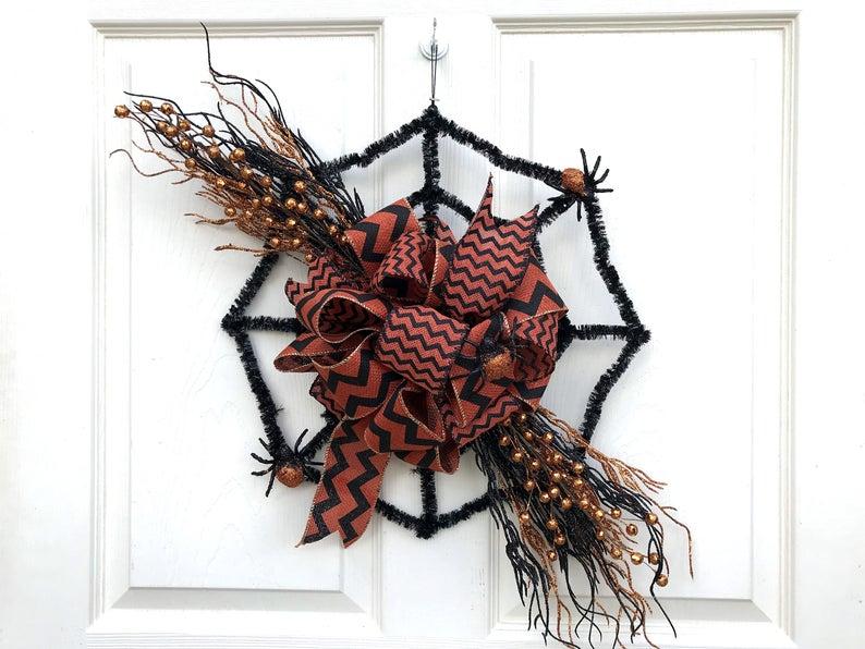 18 Crazy Cool Handmade Halloween Wreath Ideas You'll Love