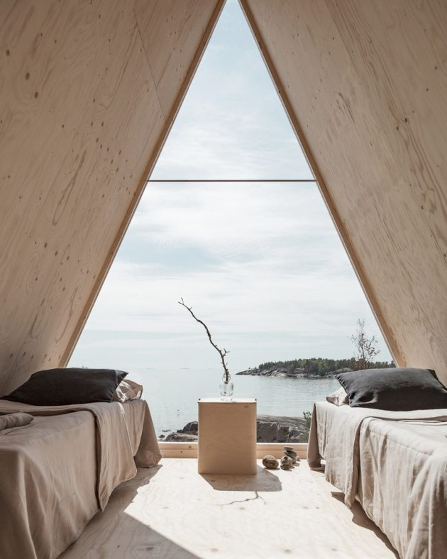 Nolla Cabin by Studio Mr. Falck in Vallisaari, Finland
