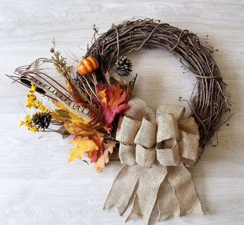 15 Superb Handmade Thanksgiving Wreath Designs You Should Hang