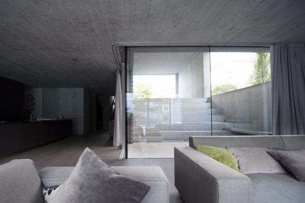 Stop Level House by OFIS Architects in Ljubljana, Slovenia