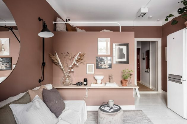 A Functional And Feminine Studio Bringing Romance in Living