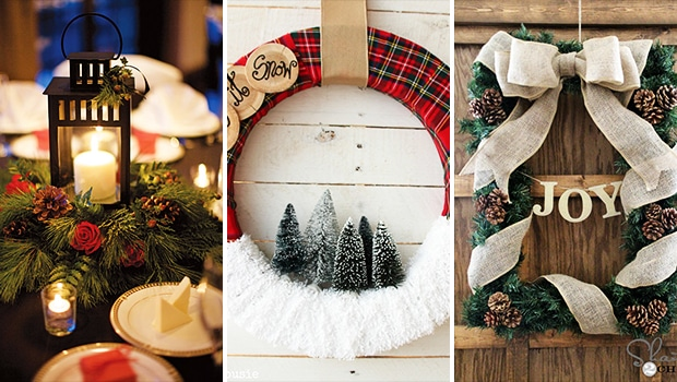 15 Stunning DIY Christmas Wreath & Centerpiece Ideas You'll Adore