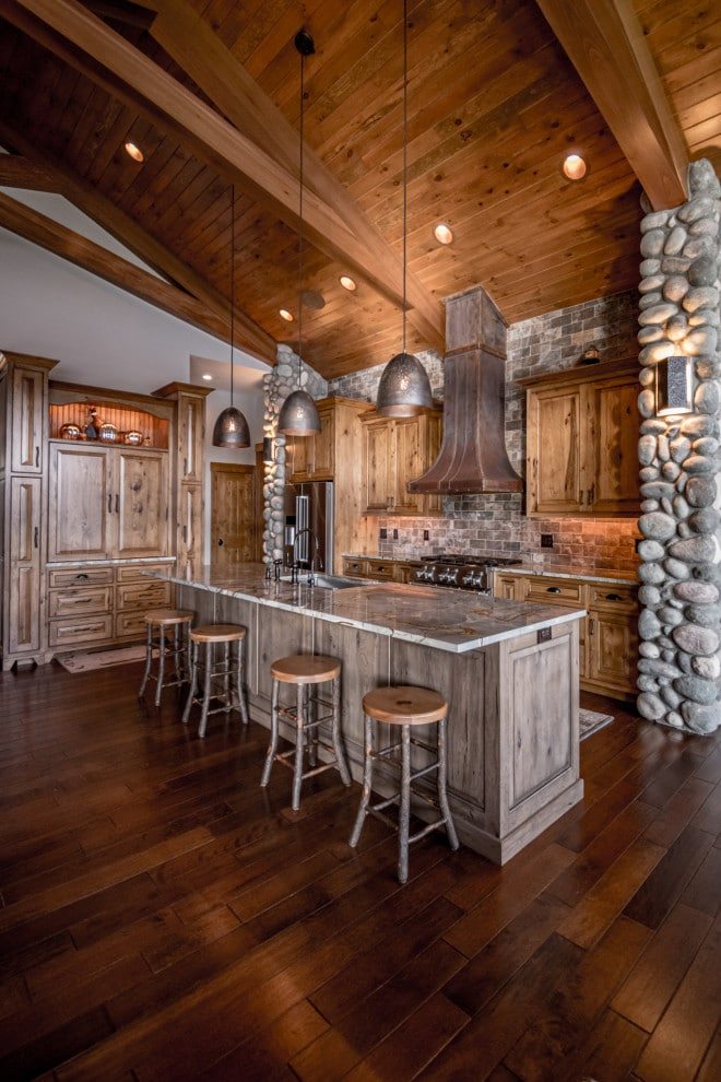 large 10 powerful photos rustic country kitchen pics