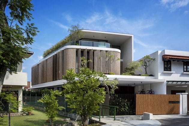 Bamboo Veil House by Wallflower Architecture + Design in Singapore