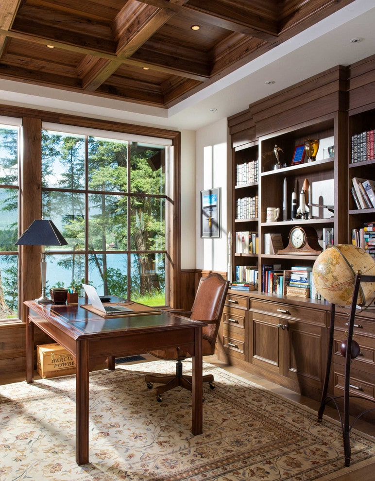 15 Cozy Rustic Home Office Designs Youd Love To Do Business In