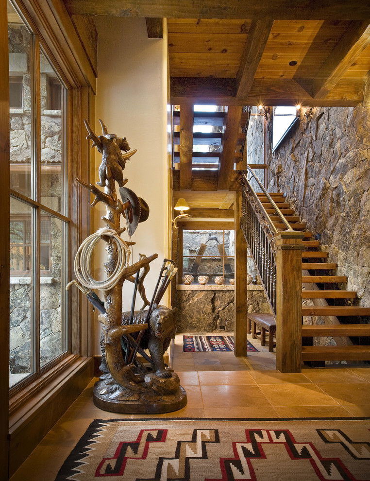 Modern Cozy Mountain Home Design Ideas 18: 18 Cozy Rustic Staircase Designs That You'll Want In Your Mountain Home