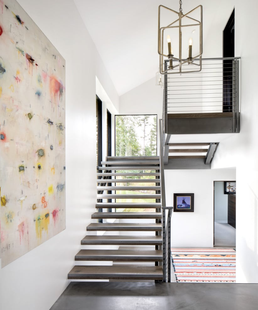 Rustic Staircase Design Ideas Newel Post Design Staircase: 18 Cozy Rustic Staircase Designs That You'll Want In Your