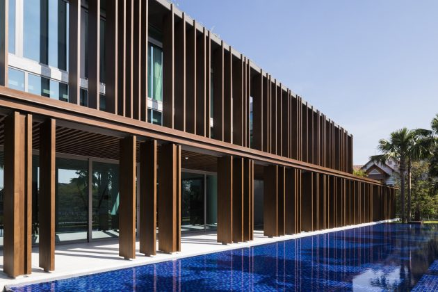 Louvers House by MIA Design Studio in Thao Dien, Vietnam