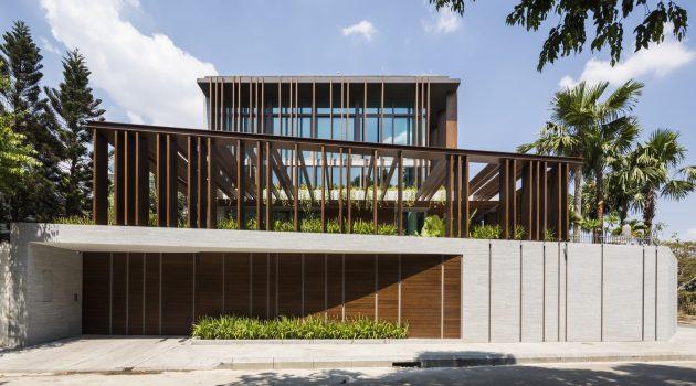 Louvers House by MIA Design Studio in Thao Dien, Vietnam