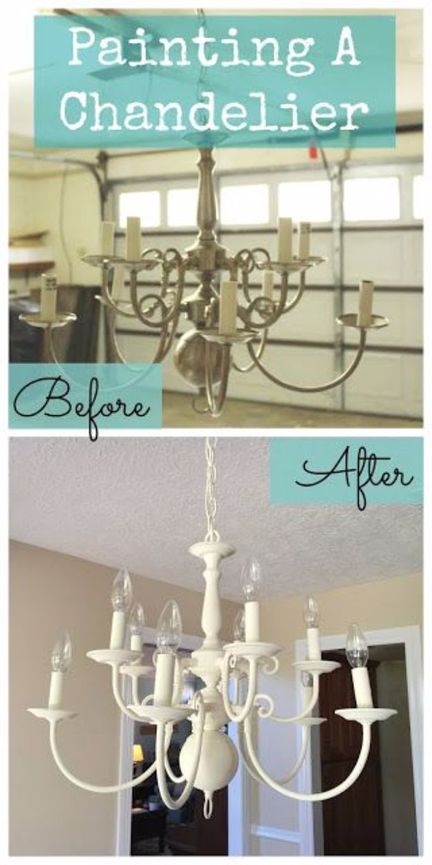 16 Stylish DIY Chandelier Makeover Ideas That Will Save You Cash