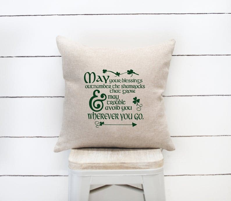 16 Whimsical St. Patricks Day Pillow Designs For Your Sofa