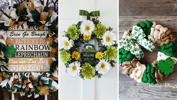 16 Wonderful St. Patrick's Day Wreath Designs That Will Bring You Luck