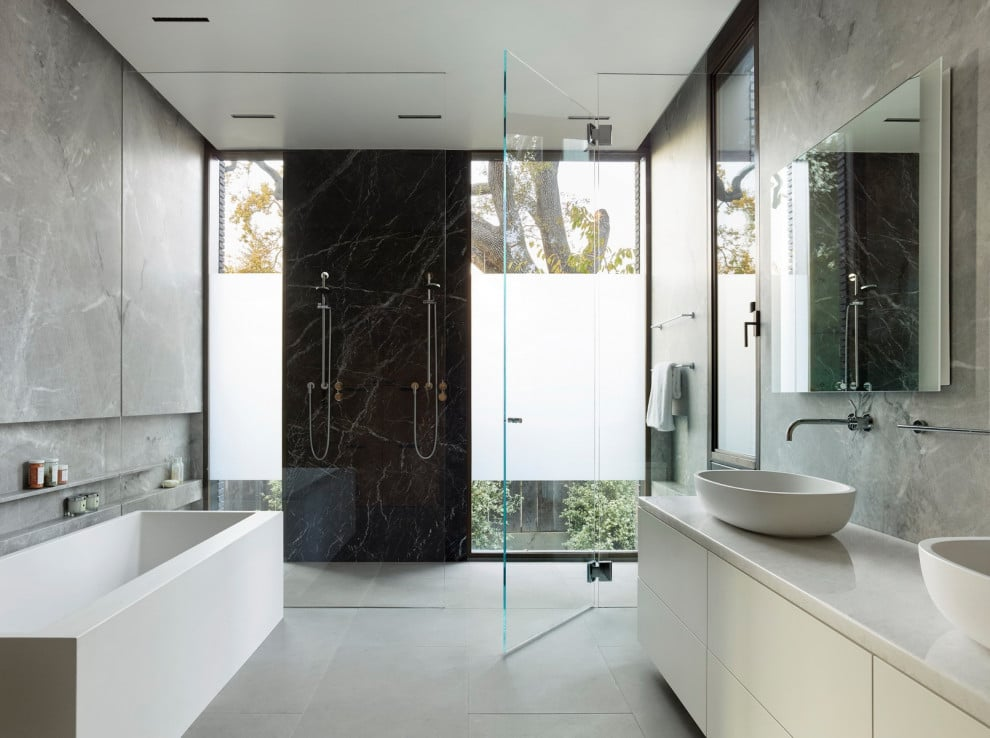 18 Epic Modern Bathroom Designs That Are All About Cleanliness