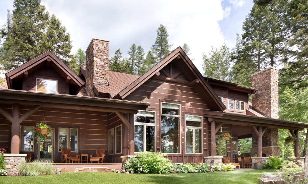 18 Monumental Rustic Exterior Designs You Just Can't Look Away From