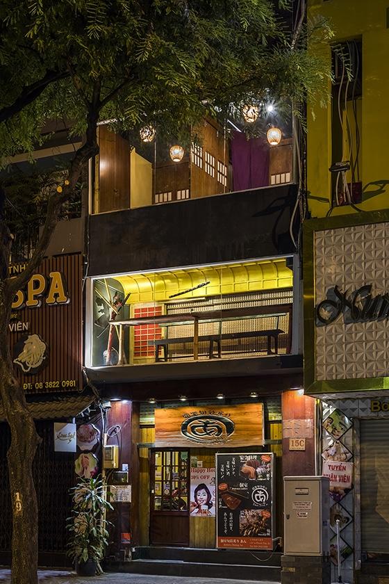 Japanese Restaurant Robata Dining AN by Mamoru Maeda in Vietnam