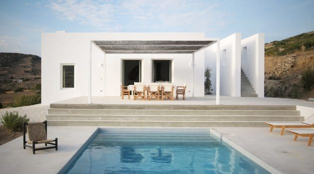 Maison Kamari by React Architects on the Island of Paros, Greece